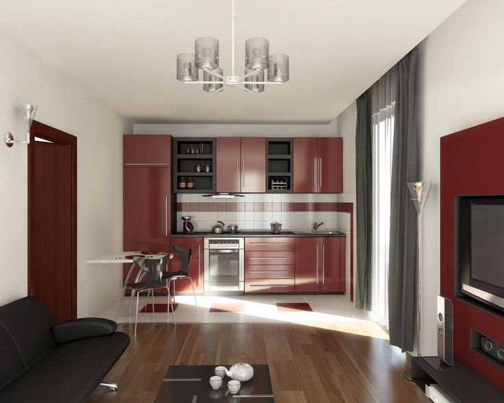 Kitchen Kitchen Cabinet Color Ideas For Your Inspiration Red Maroon And Black For Kitchen Interior With Unique Pendant Lamp