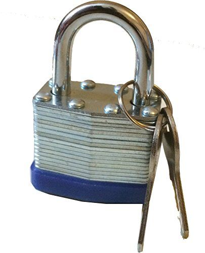 New 40MM Water Proof Padlock - Solid Steel Heavy Duty - 2 Keys With Each Lock - Home Security / Garden / Garages / Sheds / Anywhere Outdoors / Indoors - Weather Proof Padlocks - Silver / Blue - New Verdi http://www.amazon.co.uk/dp/B00ULN8RX8/ref=cm_sw_r_pi_dp_0YGnwb1MY8YA6