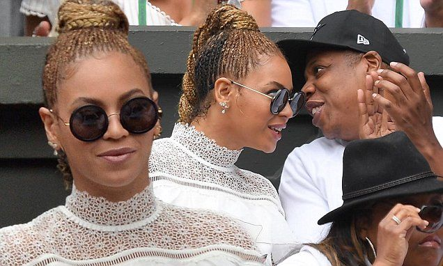 Beyonce and Jay Z supports Serena Williams at the Wimbledon Championships | Daily Mail Online