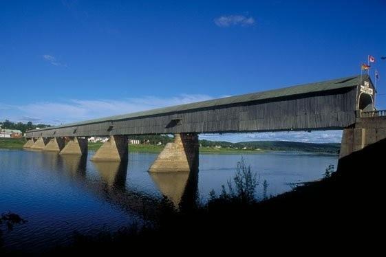 NEW BRUNSWICK WORLDS LONGEST COVERED BRIDGE.