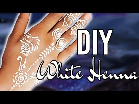 EASY DIY WHITE HENNA - ONLY 2 INGREDIENTS! - YouTube