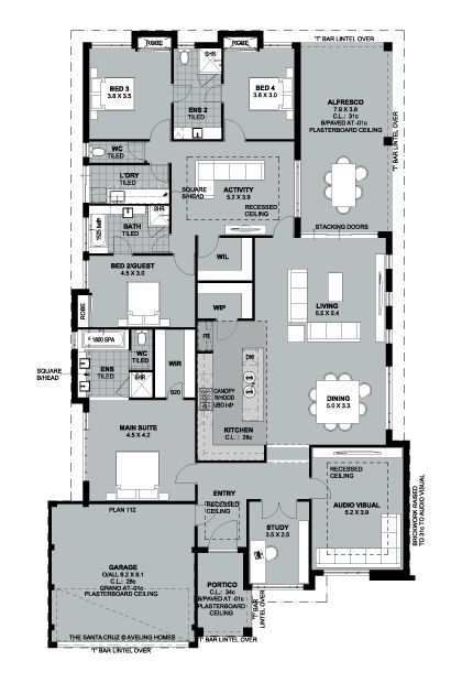 "Aveling Luxury Collection presents ""The Santa Cruz"" - floorplan"