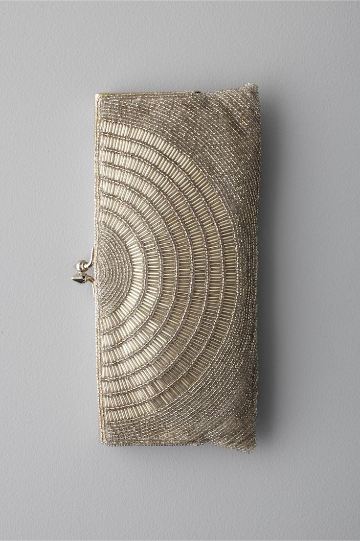 art deco beaded clutch