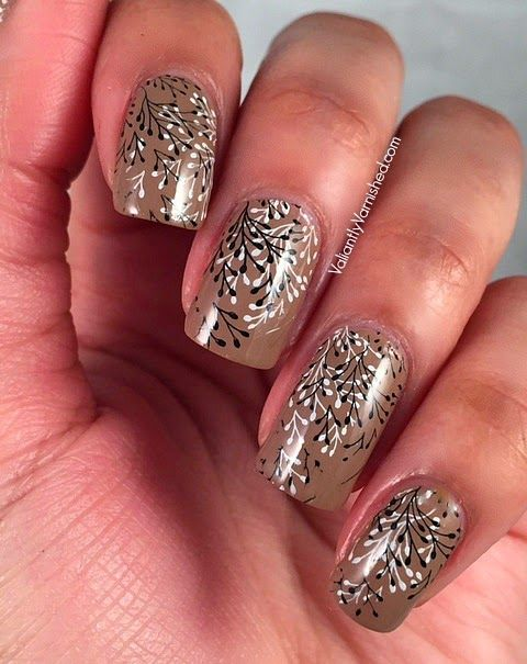 Sunday Stamping: Black and White Double Stamping — Valiantly Varnished
