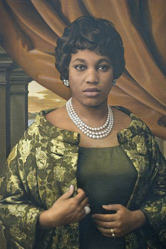 Leontyne Price  (born 1927)  by Bradley Phillips (1929-1991).Regardless of their talents, African American singers were for years generally barred from performing with this country's more prestigious opera companies. In 1952, when audiences experienced the rich voice of Mississippi-born soprano Leontyne Price in a revival of Porgy and Bess, it became clear that this long-standing barrier would soon be breached.