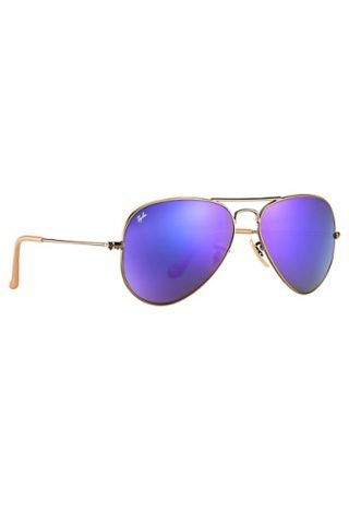 Ray-Ban RB3025 Aviator Flash Lenses 55 mm Sunglasses in Violet Mirror/Bronze