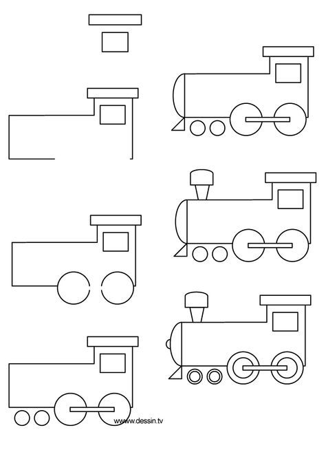 drawing locomotive
