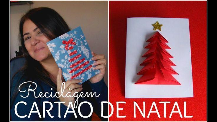 DIY:CARTOES DE NATAL COM PAPEIS RECICLADOS-FAÇA VOCÊ MESMO