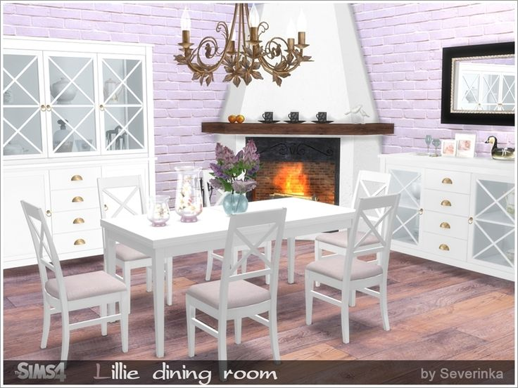 A Set Of Furniture And Decoration For The Dining Room. Found In TSR  Category U0027