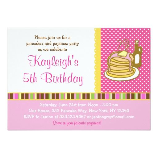 183 best Girls Pajama Party Invitations images – Girl Party Invitation