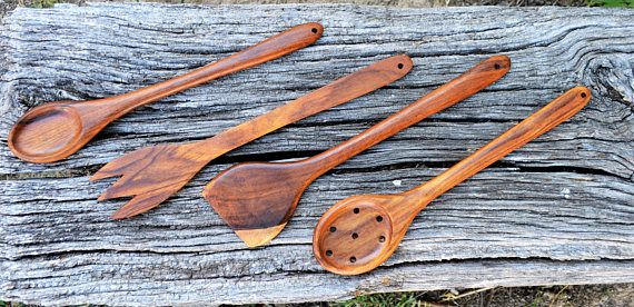 Kitchen set Kitchen spoon set Wooden kitchen spoon set