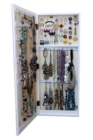 21 best Hanging Jewelry Organizer with mirror images on Pinterest