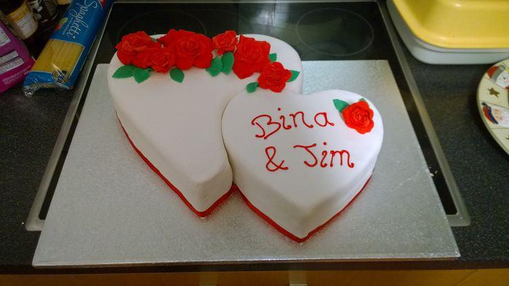 Wedding Cake Heart/ Hochzeitstorte Doppelherz