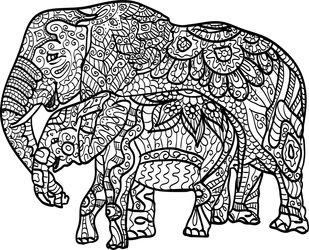 Realistic masterpiece coloring pages ~ 159 best Elephant Coloring Pages for Adults images on ...