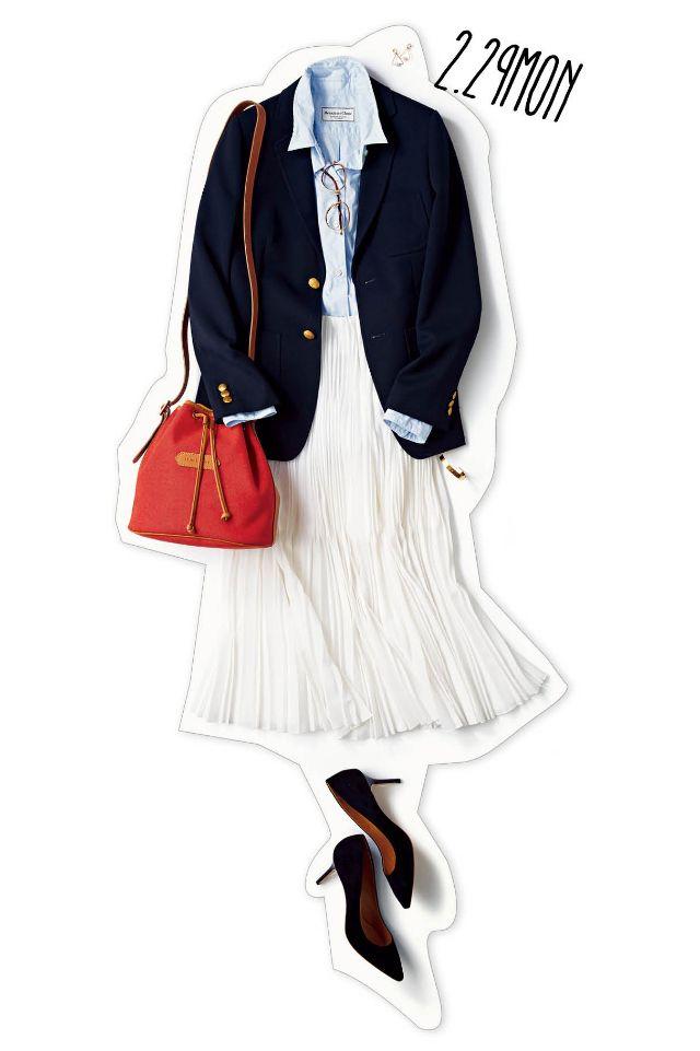 かっちりしすぎない通勤コーデには、プリーツスカートがお役立ち!-@BAILA ワタシを惹きつける。モノがうごく。リアルにひびく。BAILA公式サイト|HAPPY PLUS(ハピプラ)集英社