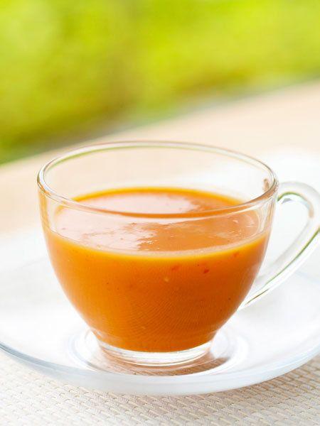 【ELLE a table】パプリカとアボカドのスープレシピ|エル・オンライン