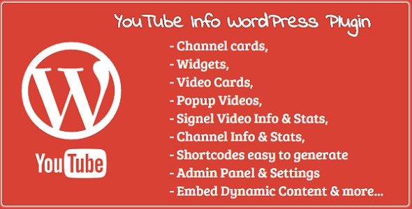 YouTube Info- Widgets Channel & Video Cards & more
