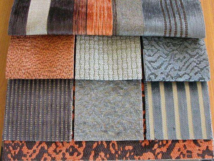 Zsenília szövött modern bútorszövet kollekció, kopásállóság típustól függően MD 20 000-100 000. Szenek: terra-barna-szürke