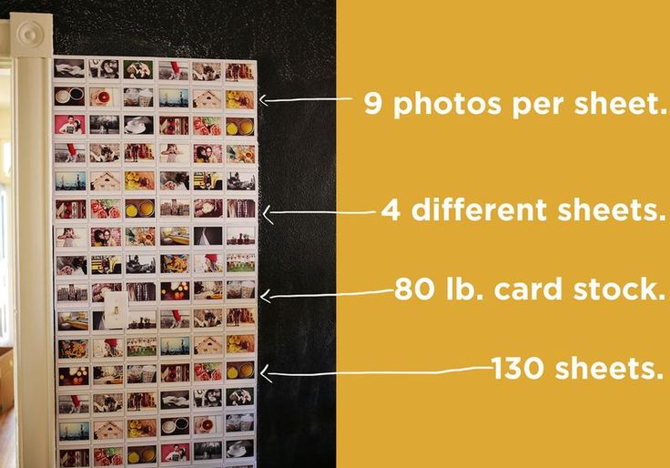 How we made our instax photo wall