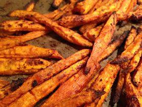 A passion....: Zoete aardappel frietjes uit de oven