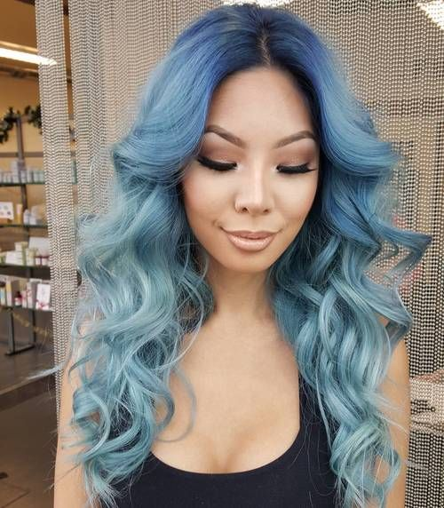 40 Fairy-Like Blue Ombre Hairstyles (With images) | Ombre hair color, Ombre hair, Best ombre hair
