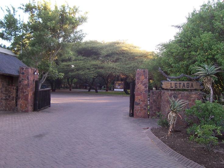 Letaba rest camp entrance gate.
