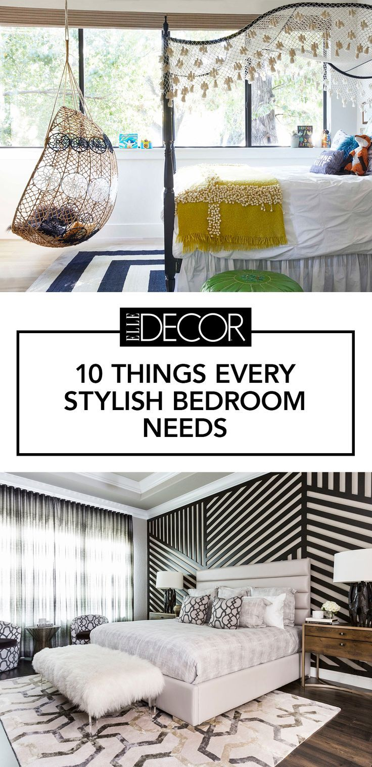 Make sure every stylish bedroom in your home has these 10 things for a chic look.