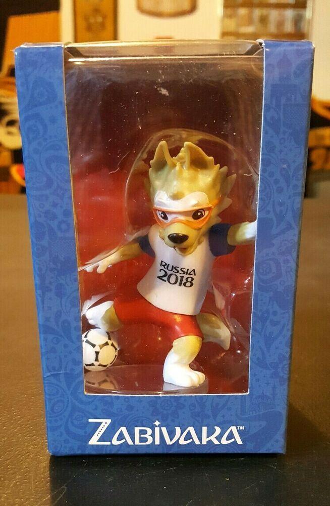 NIB ! 2018 FIFA World Cup Russia Set of 2 figures Mascot Zabivaka of PVC 9 cm