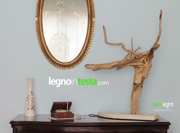 """""""Medusa"""": creazione di wood design in legno di mare con base in  pietra leccese"""