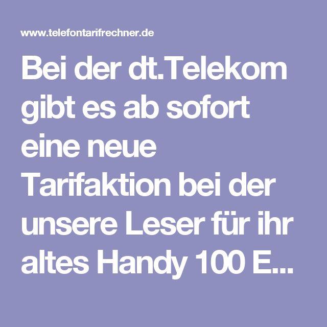 Bei der dt.Telekom gibt es ab sofort eine neue Tarifaktion bei der unsere Leser für ihr altes Handy 100 Euro erstattet bekommen. Dazu muss man dann bei der Telekom einen neuen Vertrag abschließen. Dabei sind dann aber auch alle weitere Vergünstigungen mit der Cashback Aktion kombinierbar. Auch gibt es nun die MagentaMobil Tarife mit 24 monatigen Rabatt. Wir zeigen Ihnen, wie immer, die besten Telekom Aktionen auf.