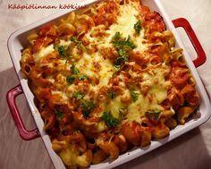 Kääpiölinnan köökissä: All you eat now is some pasta! - helppo, arkinen jauhelihapastavuoka