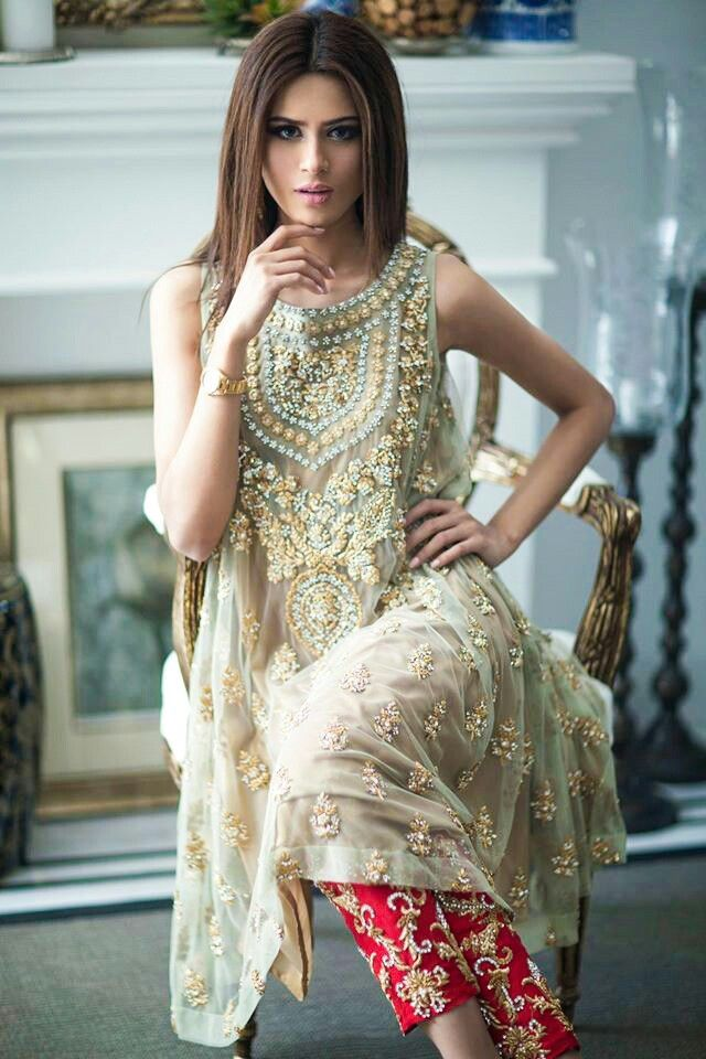 Bridal by mina hassan Love the colors: tunic... not so much pants. @beglamrs