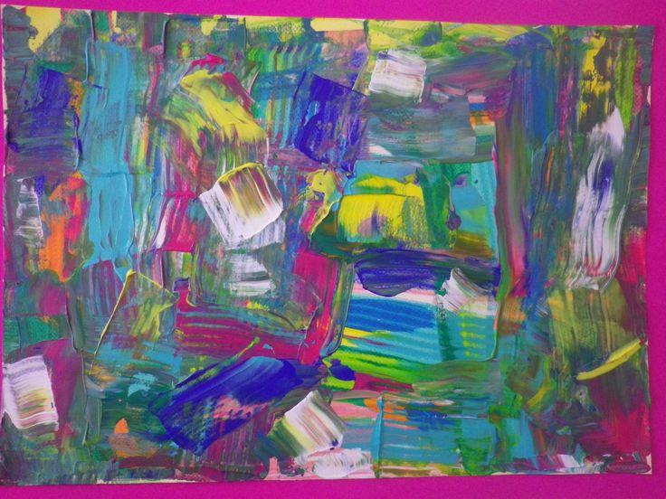 Χαρτόνι στο χαρτόνι κι ανάμεσα μπογιά δεν σκέφτεσαι…μπερδεύεις και φτιάχνεις ζωγραφιά!!! Έτσι για να σπάσει η μονοτονία… ζωγραφίζουμε με χαρτόνι και ακρυλικά και πάνω απ' όλα σκεφ…