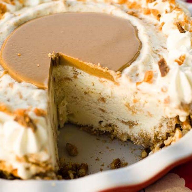 Peanut Butter Pretzel Pie Recipe, of course I'd drizzle chocolate over the top!