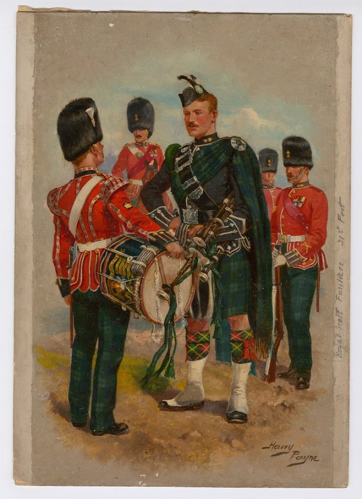 British; Royal Scots Fusiliers, c.1900 by Harry Payne