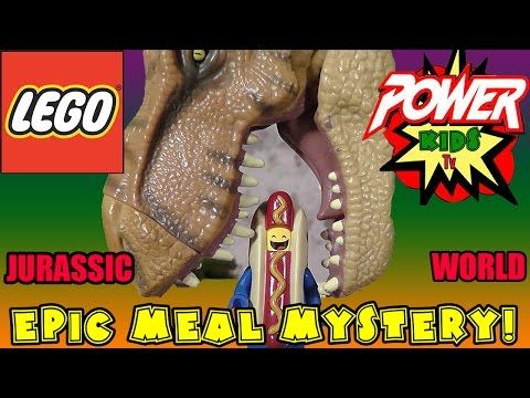 Jurassic World Epic Meal Mystery by Power Kids TV - YouTube