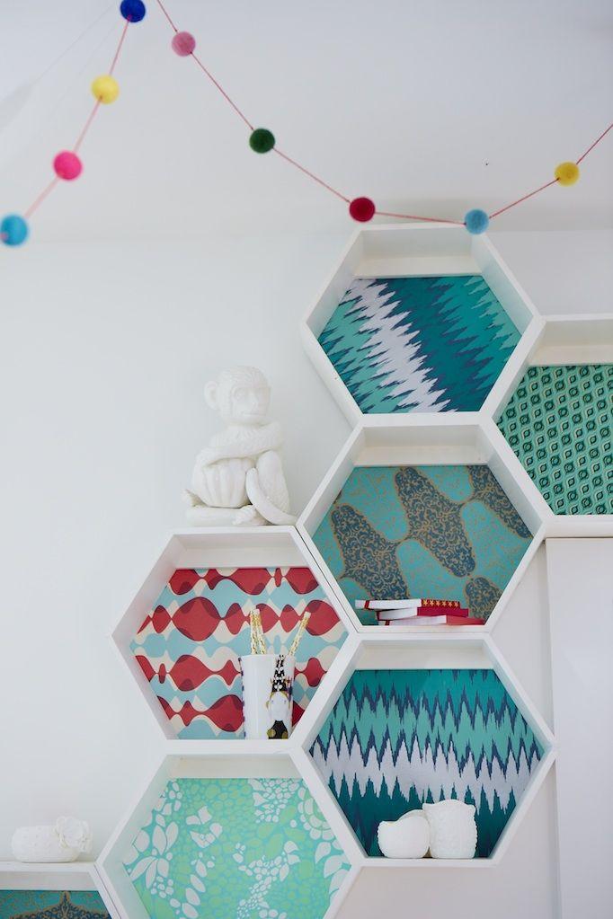 paper backed honeycomb shelves
