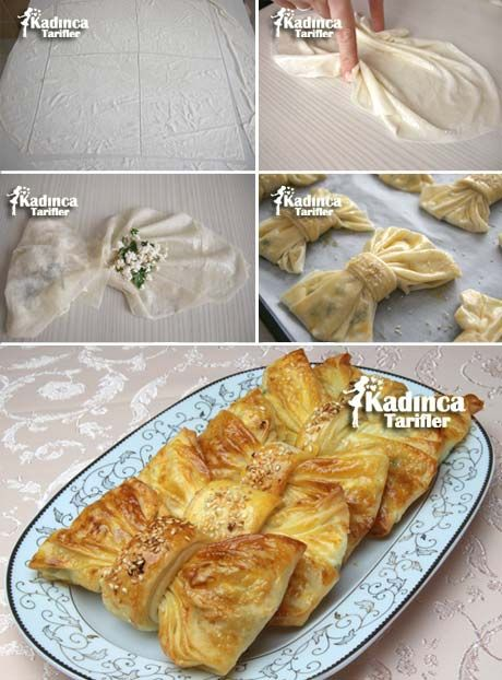 Phyllo Pastry Bows - HOW TO