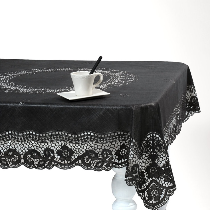 Beautiful lace oilcloth , just got it today, it looks gorgeous in my kitchen! Nappe Séville noire