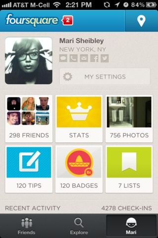 Mobile Patterns - User Profiles | top navigation moved to a static page