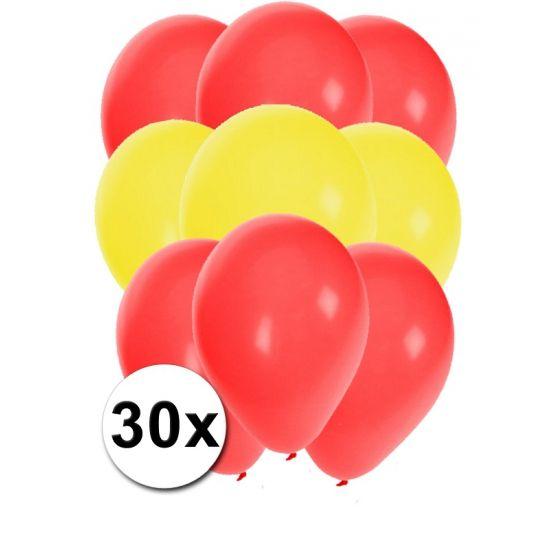 Spaans ballonnen pakket 30x  30 stuks ballonnen in de kleuren van Spanje: Rood en Geel. Van elke kleur 15 ballonnen leuk voor Spaanse themafeesten.  Dit artikel bestaat uit: 1x Rode ballonnen 15 stuks 1x Gele ballonnen 15 stuks  EUR 2.99  Meer informatie