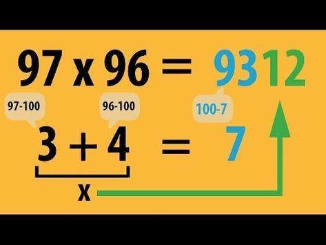 GEHEIM!! Multiplizieren – Die Lehrervariante – geniales Kopfrechnen – superschnell | Mathematik – YouTube – Denise
