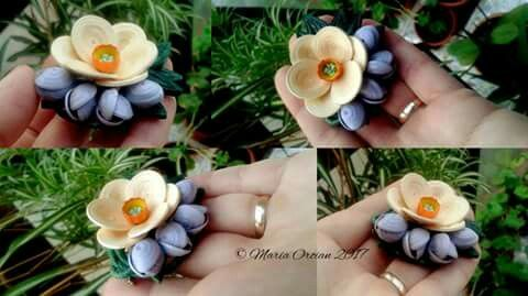 Quilled March brooche by Maria Oroian