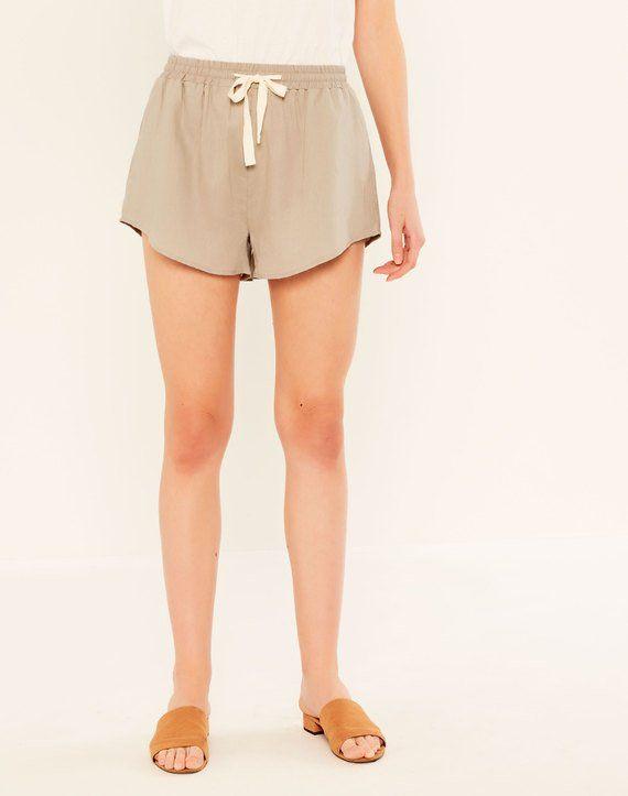 Linen Blend Runner Short Seagrass