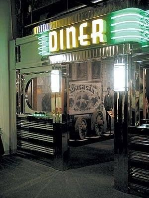 50s diner facade grease monkeys pinterest diners for 50 s diner exterior