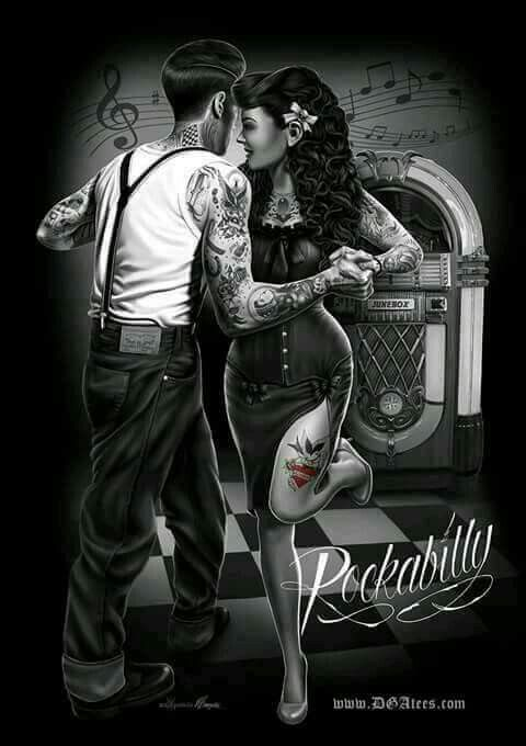 670 best rockabilly/psychobilly art images on Pinterest ...