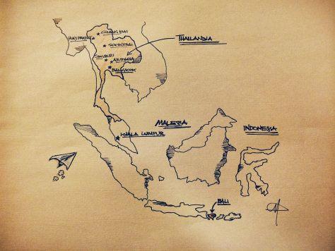 il mio sudest asiatico   #disegno