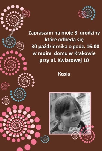 Zaproszenie na urodziny / Birthday party invitation