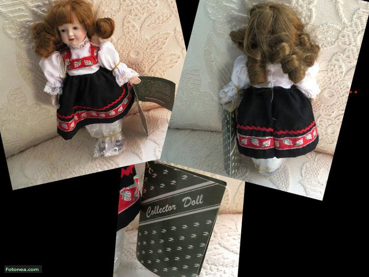 1986 Vintage Montgomery Ward hand painted porcelain face, arms and legs Collector Doll with Original Tag in costume which represent Germany by Mayuls on Etsy
