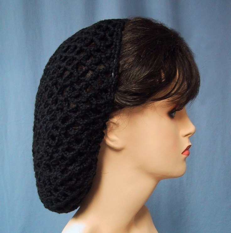 Crocheted Snood In Black Renaissance Costume Hair